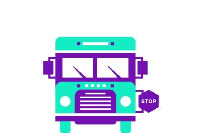 dessin d'un bus scolaire
