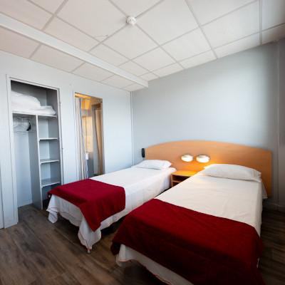 Chambre à 2 lits hébergement lyon 8ème