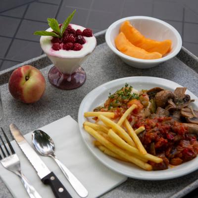 menu déjeuner self service