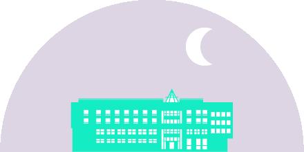 illustration bâtiment du cisl nuit