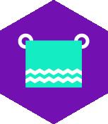 pictogramme serviettes de bain non fournis