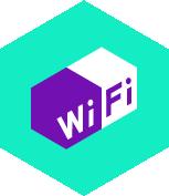 pictogramme wifi fond vert